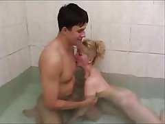 Blowjob, MILF, Old and Young, Shower