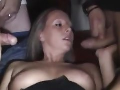 Bukkake, Cum in mouth, Cumshot, Facial, Gangbang