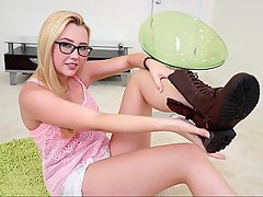 Boobs, Blonde, Glasses, Teen