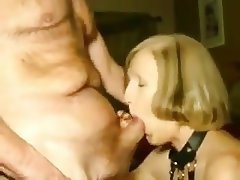 Amateur, Blowjob, Granny, Cum in mouth, Wife