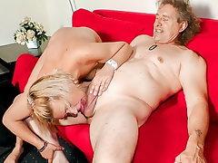 Blonde, Blowjob, Mature, German