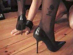 Femdom, Foot Fetish, MILF, Stockings