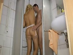German, Mature, Old and Young, Shower