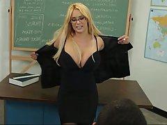 Blonde, Blowjob, Glasses, MILF