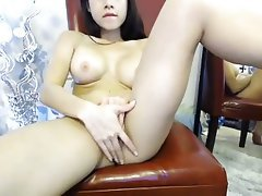 Asian, Big Boobs, Masturbation, Webcam