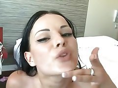 Blowjob, Brunette, Facial