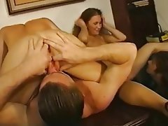 Anal, Blowjob, Double Penetration, Facial, Group Sex