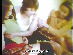 Vintage, Teen, Lesbian, Threesome